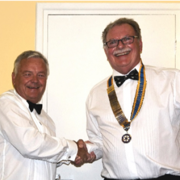 Handover evening Past president Stephen Hagues and the new president Nigel Whitely