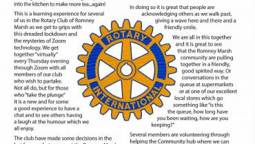 Rotary Club during lockdown